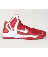 Nike Air Max HyperAggressor Mid Basketball Shoes Red & White Mens NEW - $74.99