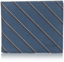 NEW TOMMY HILFIGER MEN'S LEATHER CREDIT CARD WALLET BILLFOLD COBALT 31TL13X043 image 1