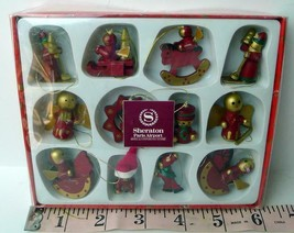 Paris Airport Roissy France Sheraton Hotel Miniature Wooden Ornaments - $34.60