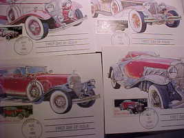 USA First Day Cards Cars Detroit Cancel Aug 26 1988 USPS Unused - $14.00