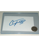 "Country Singer Conway Twitty Beautiful Signed In Blue Ink 3X5"" Index Card - $39.58"