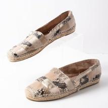 Sam Edelman Womens Canvas Espadrille Flats Shoes Sz 6 SnakeSkin Patchwork Gold - $34.65