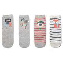 4 Pairs Cotton Crew Socks Calf Socks Warm Socks Girl's Lovely Socks Gifts [K]