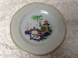 Vintage, Rare, New Chelsea, England, Gaudy Blue Willow, 9.5in Plate - $33.20