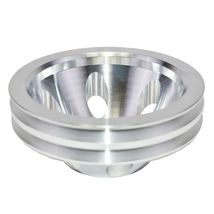 Chevy Small Block Double-Groove Aluminum Long Water Pump Pulley image 6
