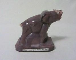 Boyd Art Glass Zack The Elephant Figurine # 36 Lilac B In Diamond #5 Hollow - $19.99