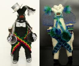 CUSTOM Llama Cake Topper Ornaments, Peruvian ethnic decoration, christma... - $27.50