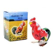 WIND UP ROOSTER Tin Toy Hopping Moving Bird Vintage Style Retro Litho NE... - $8.95
