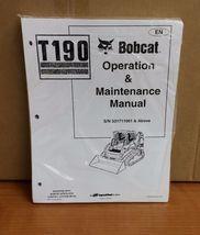 Bobcat T190 Multi Terrain Loader Operation & Maintenance Manual 6904144 - $23.00+