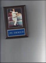 JOE DiMAGGIO PLAQUE BASEBALL NEW YORK YANKEES NY MLB - $2.96