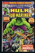 Marvel Super Heroes #55 ORIGINAL Vintage 1975 Comic Book Hulk Sub Mariner - $9.49