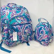 VERA BRADLEY set essential LARGE backpack & lunch bunch WAIKIKI PAISLEY ... - $115.00