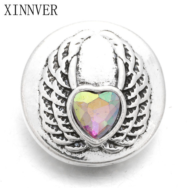 Primary image for 10Pcs/lot Snap Jewelry Buttons Wing Rhinestone 18mm Snap Buttons Fit 18mm Snap B
