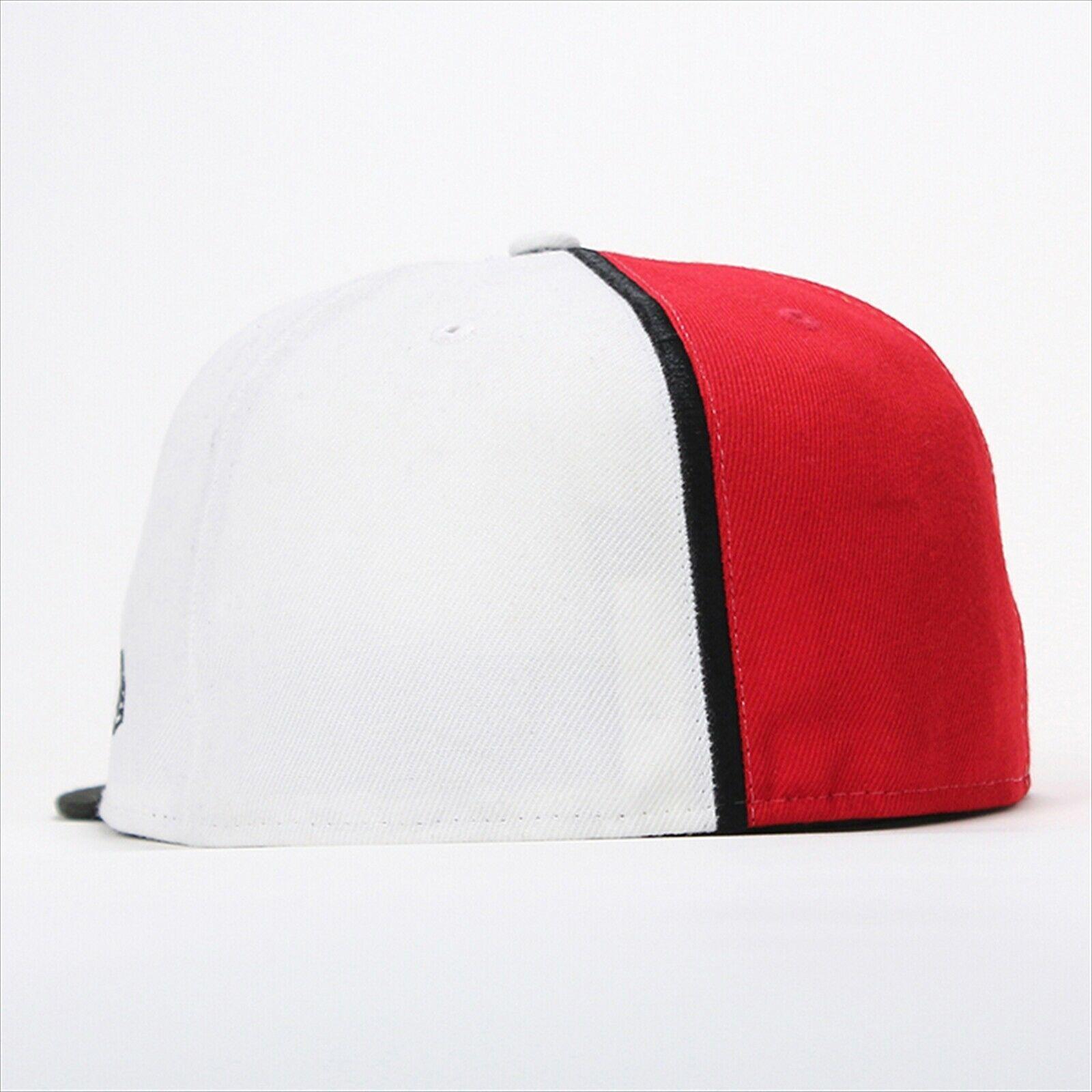 New Era Pokemon collaboration cap 59FITY BIG MOSTER BALL White / Scarlet