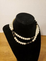 NAPIER FAUX ONYX AND PEARL NECKLACE - $19.95