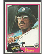 Detroit Tigers Al Cowans 1981 Topps Baseball Card 123 nr mt - $0.50