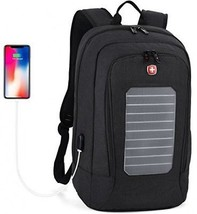 Laptop Backpack,Fanspack Solar Powered Backpack With USB Charging Port ... - $165.51