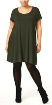 Style&Co. Plus Size 2X Swing Dress Women Short Sleeve A-Line Olive Dress... - $14.84