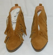 Beast Fashion Carrie 01 Camel Fringe Slip On Shoes Size Seven image 2