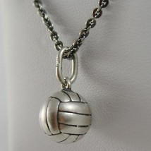 Silver Necklace 925 Burnished Pendant to Ball from Volleyball Made in Italy image 2