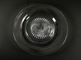 """Heisey Elegant Glass 8 1/4"""" Vintage Salad Plates Set of 6 Clear Signed Starburst - $29.95"""