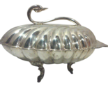 Silverplated swan lidded serving dish thumb155 crop