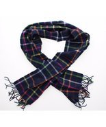 Coach Cashmere Classic Legacy Tattersall Scarf Navy/Multi - $1.193,63 MXN