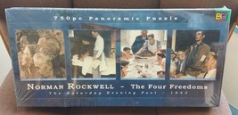 Norman Rockwell The Four Freedoms 750 Pieces Panoramic Puzzle New 38.25 ... - $29.69