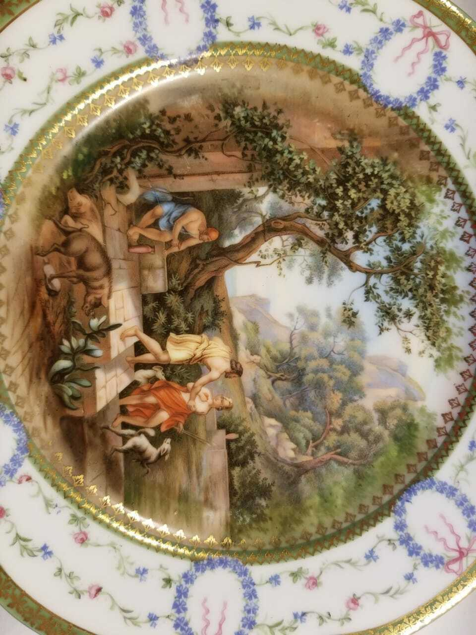 old French porcelain dinner plate, in good conditions. sevres? stamp