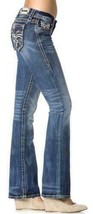Rock Revival Women's Premium Boot Cut Light Denim Jeans Woven Pants Abelen B image 2