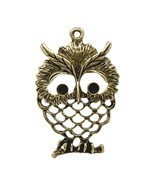 Lovely 5 Bronze Tone Owl Charm Pendants 6x4cm (B12351) - ₹936.24 INR