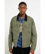 NWT Levis Jeans The Denim Trucker Lined Jacket Olive Green sz S - $65.34