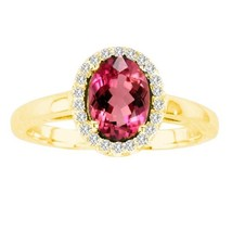 Ilano Collection R50916-14Y-RB-75-Si-2 7 x 5 in. 14K Yellow Gold Oval Ru... - $740.65
