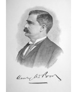 HENRY W. POOR Maine Born Banker Stock Exchange Broker - 1895 Portrait Print - $8.82
