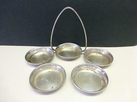 4 Vintage TIFFANY & Co Sterling Silver Individual Nut Candy Bowl & Holder - $143.55