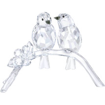 Swarovski White Eyes Crystal Figurine Flower & Birds on Branch #5249843 - $247.49