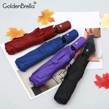 GoldenBrella® New Creative 3Fold Light Automatic Umbrella Rain Men Women... - $26.41