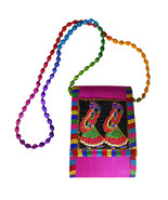 Zonnie Kira Indian Embroidered Small Purse Magenta - $15.73