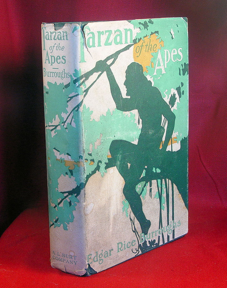 1915 TARZAN OF THE APES jacket -  ERB signed check- true 1st reprint