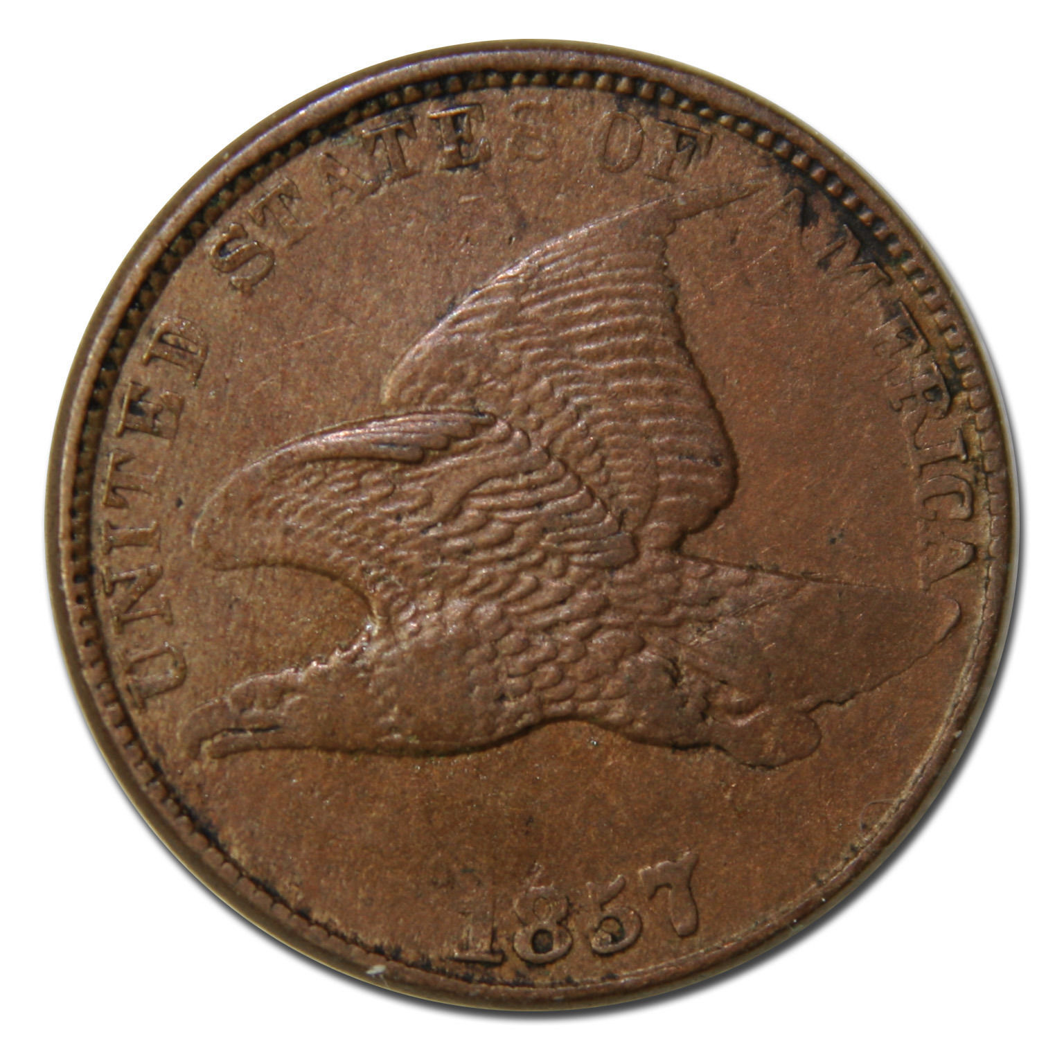 1857  Flying Eagle Cent Coin Lot# MZ 3683