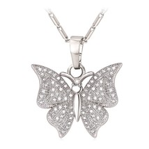 U7 Brand Luxury Butterfly Charm Necklace & Pendant Cubic Zirconia Silver/Gold Co - $13.82