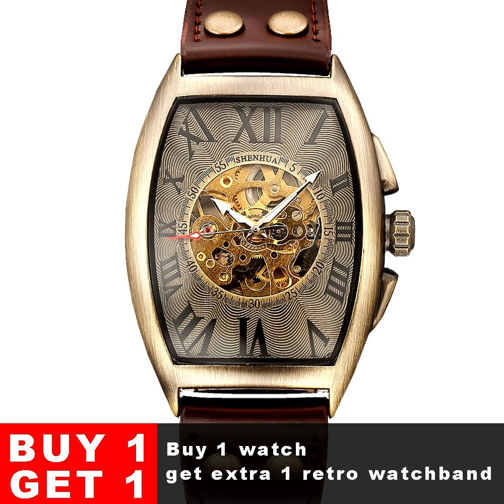 Shenhua 2019 Vintage Automatic Watch Men Mechanical Wrist Watches Mens Fashion S