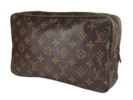LOUIS VUITTON TROUSSE TOILETTE 28 Monogram Canvas Cosmetic Pouch Bag LP4088 - $279.00