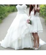 Hadmade Used Wedding Dress Long Back Size Small - $296.01