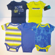 RBX Infant Boys 5 Pack Bodysuit Set Born Gifted Grow With Me Various Siz... - $11.19