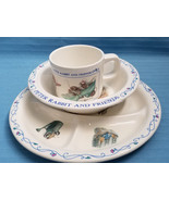 Children's Plate Bowl & Cup Set Peter Rabbit & Friends Design EDEN Blue ... - $28.75