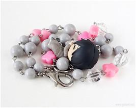 Kuroko no Basuke Himuro Necklace, Gray, Pink, Anime Jewelry, Kawaii Jewe... - $28.00