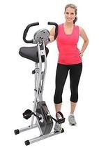 Exerpeutic Folding Magnetic Upright Bike with Pulse Exercise Bikes Cardi... - $172.96