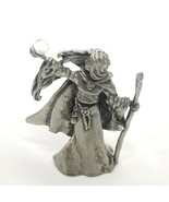 VTG Gallo Pewter Collectible Fantasy Sorceress Crystal Ball Figurine Mag... - $15.44