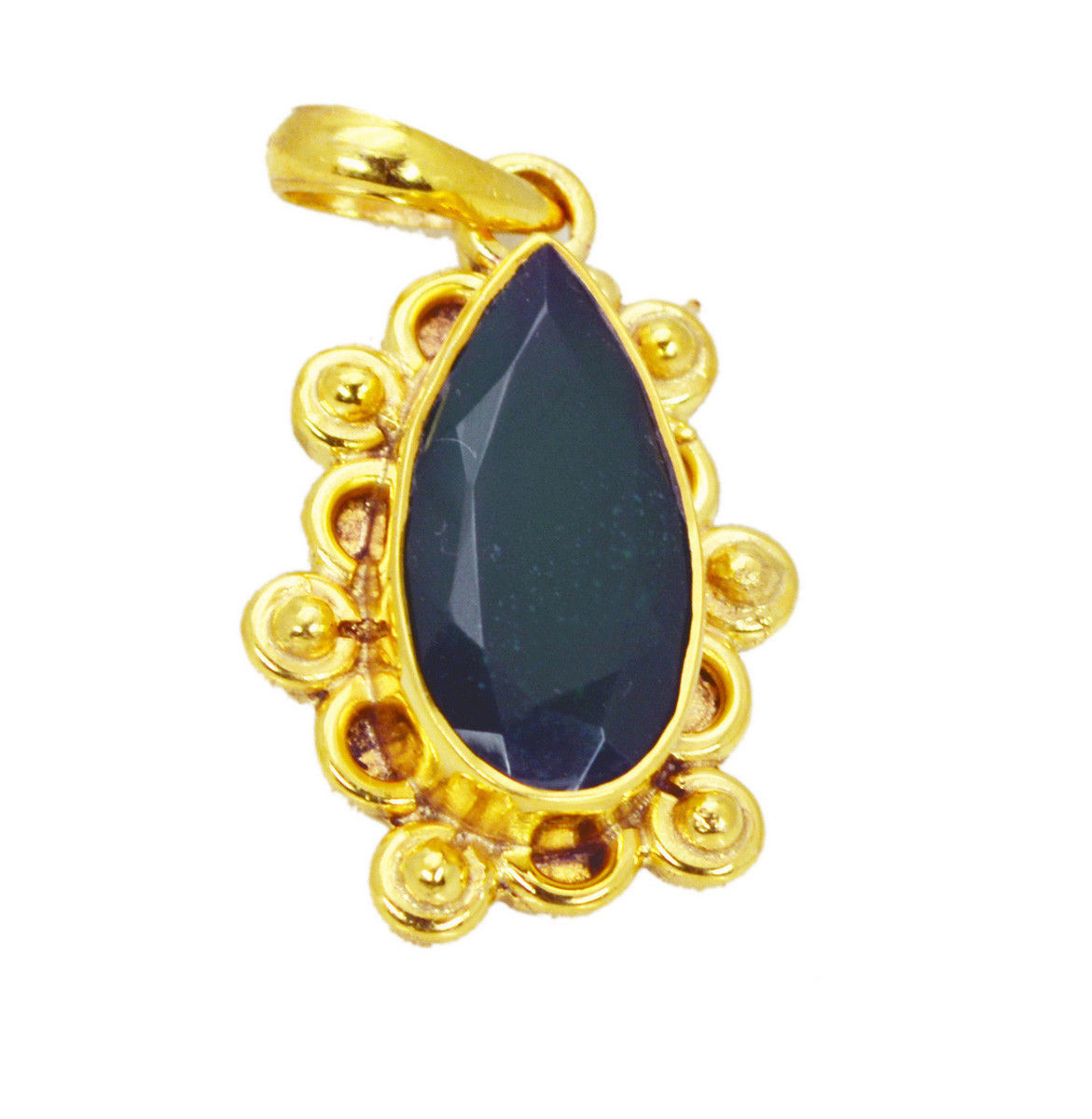 inviting Green Onyx Gold Plated Green Pendant Glass casually US